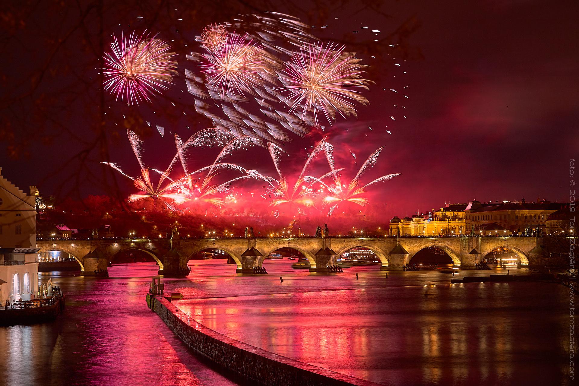 Novoroční ohňostroj 2019 Praha